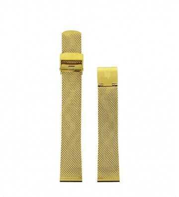 Bracelet Milanais doré 18mm