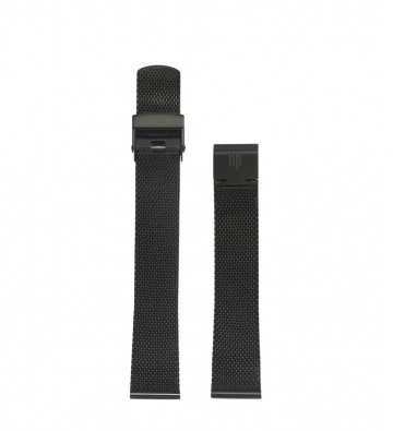 Bracelet Milanais noir 18mm