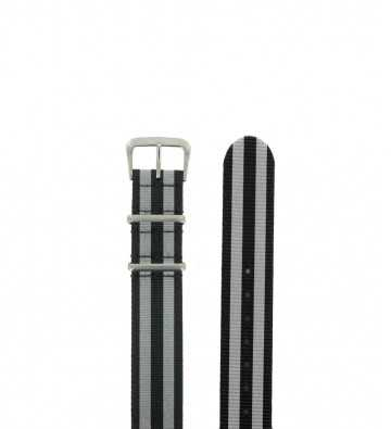 Bracelet textile Nato, boucle chromée - 150606