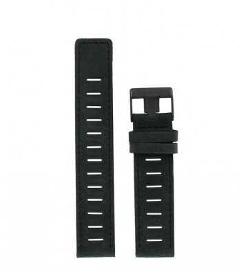 cuir noir mat 20 mm