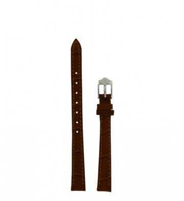 cuir croco marron 10 mm