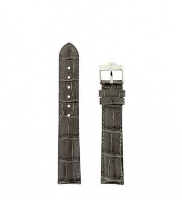 bracelet T18 cuir crocro gris - 142935