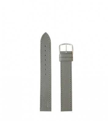 Bracelet cuir gris boucle chromé - 142518