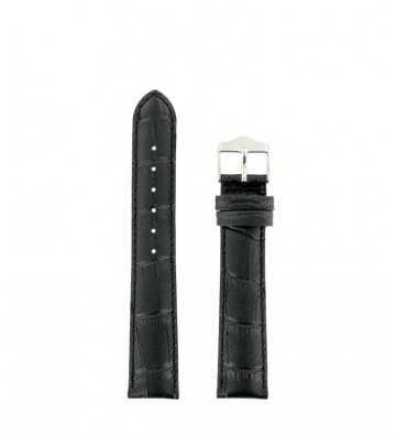 bracelet cuir noir façon crocro - 143088