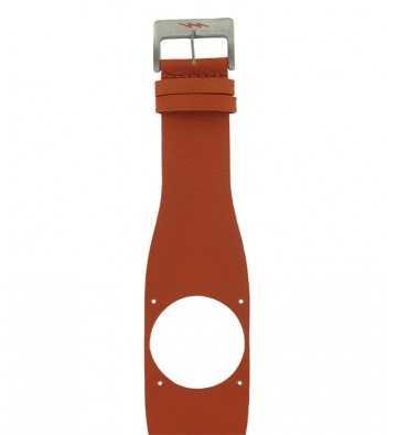 Bracelet en cuir orange Diode