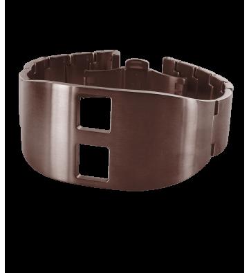 bracelet acier de baschmakoff de Lip marron brossé
