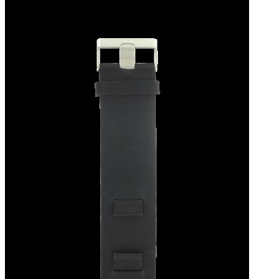 Bracelet en cuir noir  14 mm