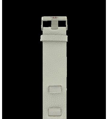 bracelet mach caprice en cuir blanc de 14 mm
