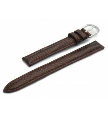 Bracelet cuir façon Lézard marron - 502132xx