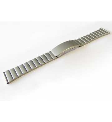 Bracelet en métal chromé mat avec une boucle déployante - 503114xx