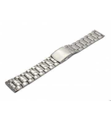 Bracelet métal acier avec boucle déployante