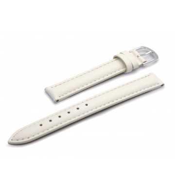 Bracelet de montre en cuir lisse mat blanc - 502106XX plusieurs tailles disponibles